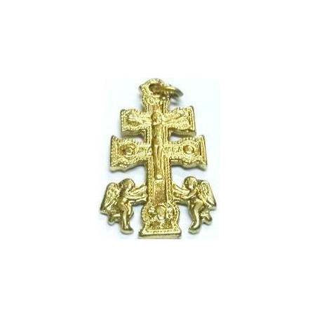 cruz de caravaca – 2,5cm – dourada