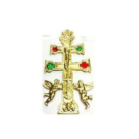 cruz de caravaca dourada – 15cm