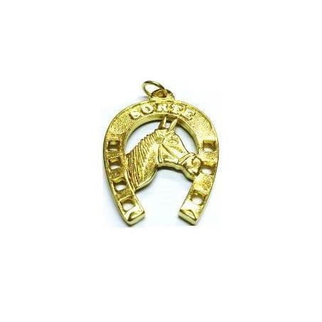 ferradura cavalo dourada – 4cm