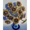 árvore da riqueza – hibiscus castanho – 12 flores