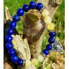 Pulseira Ganesha - Lapis Lazuli e Quartzo Rutilado
