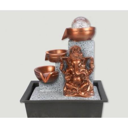 Fonte Ganesha Dourada- Resina