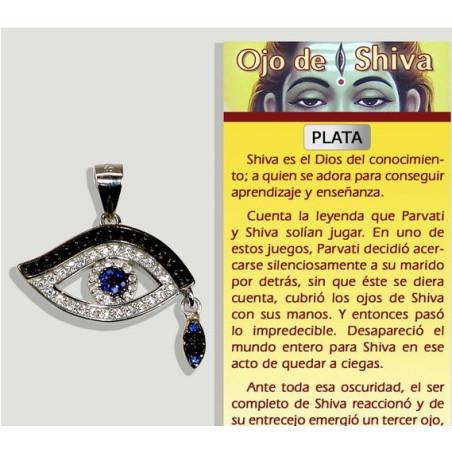 Pingente Olho de Shiva - Prata