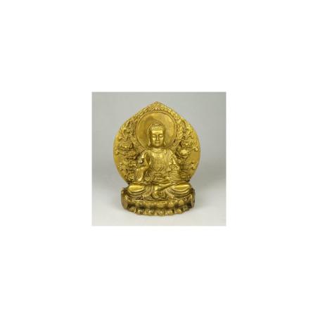 Buda dourado - Trono 14cm