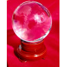 Bola de Cristal - Base de Madeira 8cm