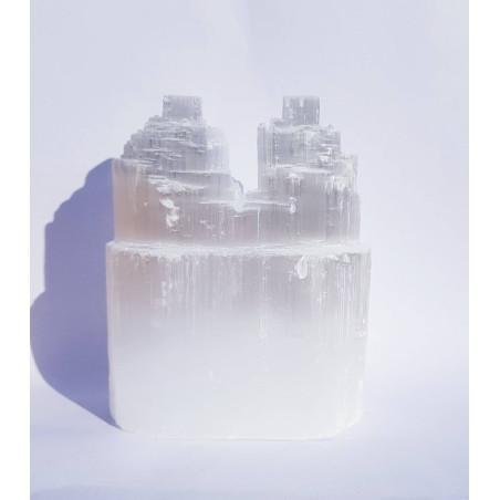 Selenite Torre Dupla - 10cm