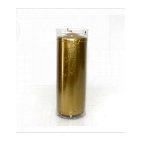 Vela Copo Plastico Dourada